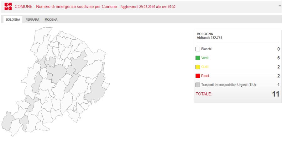 Visualizzazione dati su mappa dinamica